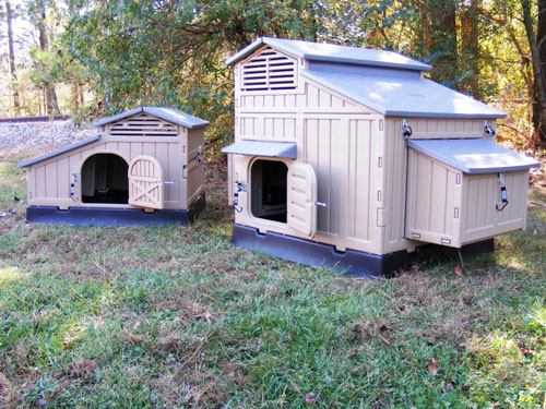 Snap Lock Standard and Large Chicken Coops for comparison